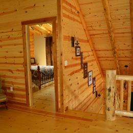 Tongue and Groove Barn Siding Covering the Interior Walls of this Loft Area