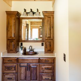 Master Bathroom  Vanity with Custom Stained Cabinets