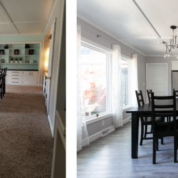Dining Room Refresh with New Flooring and Bay Window