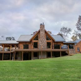 Rear Elevation of the Springville Custom Log Home