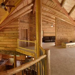 Full View of Loft Area in this Ohio built log home