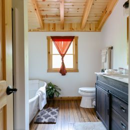 Master Bathroom with Free Standing Soaking Tub