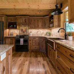 Custom Kitchen with Beautiful Cabinets and Hard Surface Countertops