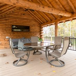 Log Roof System Covered Porch