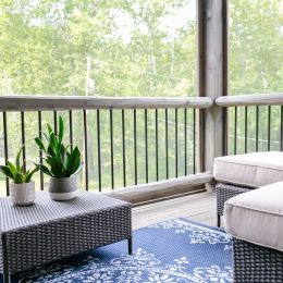 Screened-In Porch Living Space Area