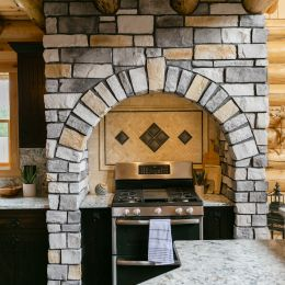 Custom Stone Arch Encasing the Full Range