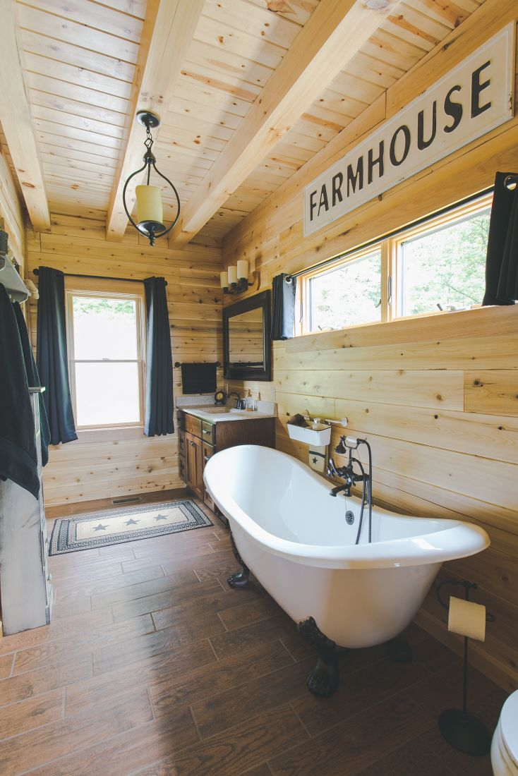 Master Bathroom with White Claw Foot Tub