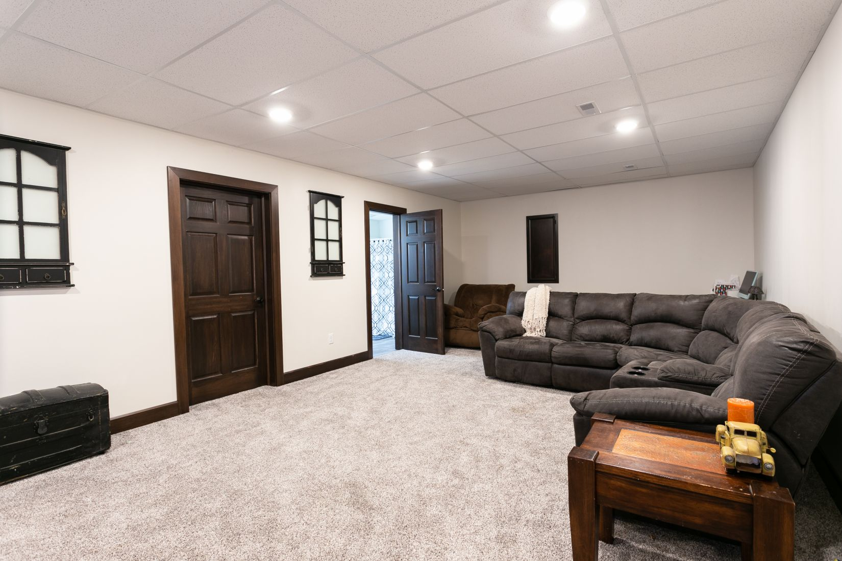 Finished Basement Family Room Area