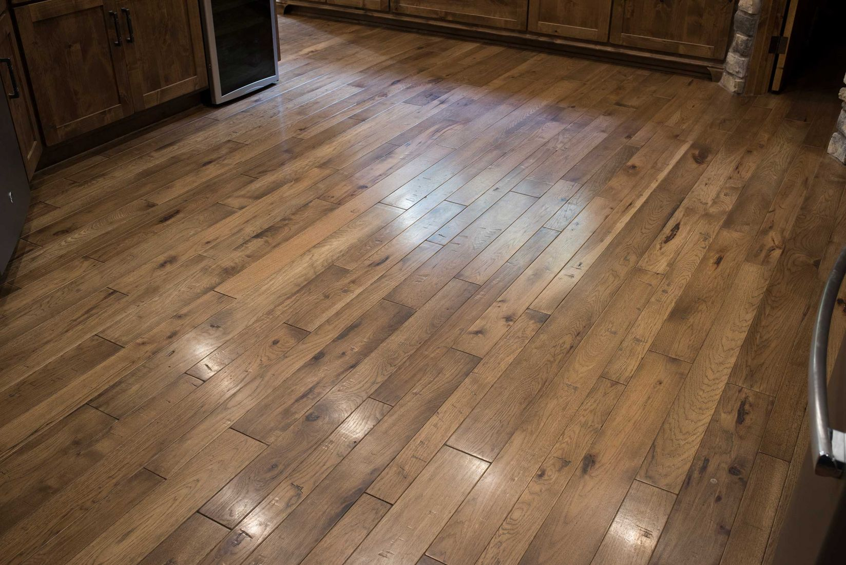 Locally made Hickory Wood Flooring with Cappuccino stain