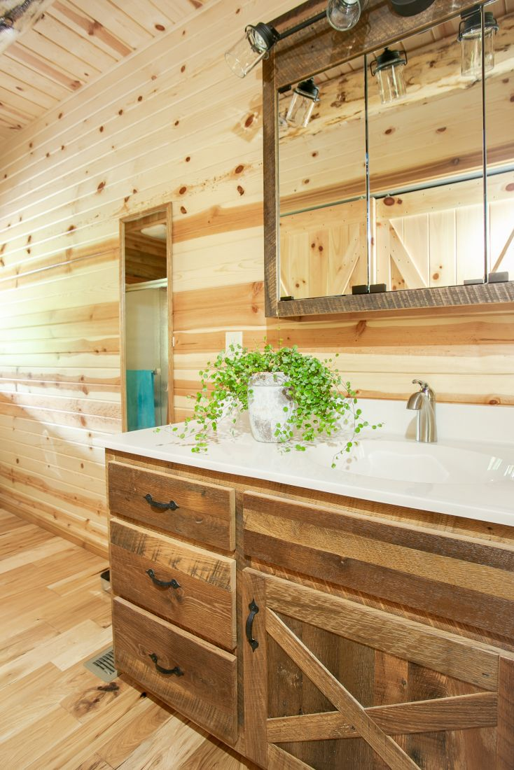 Reclaimed Barn Wood Master Bath Vanity