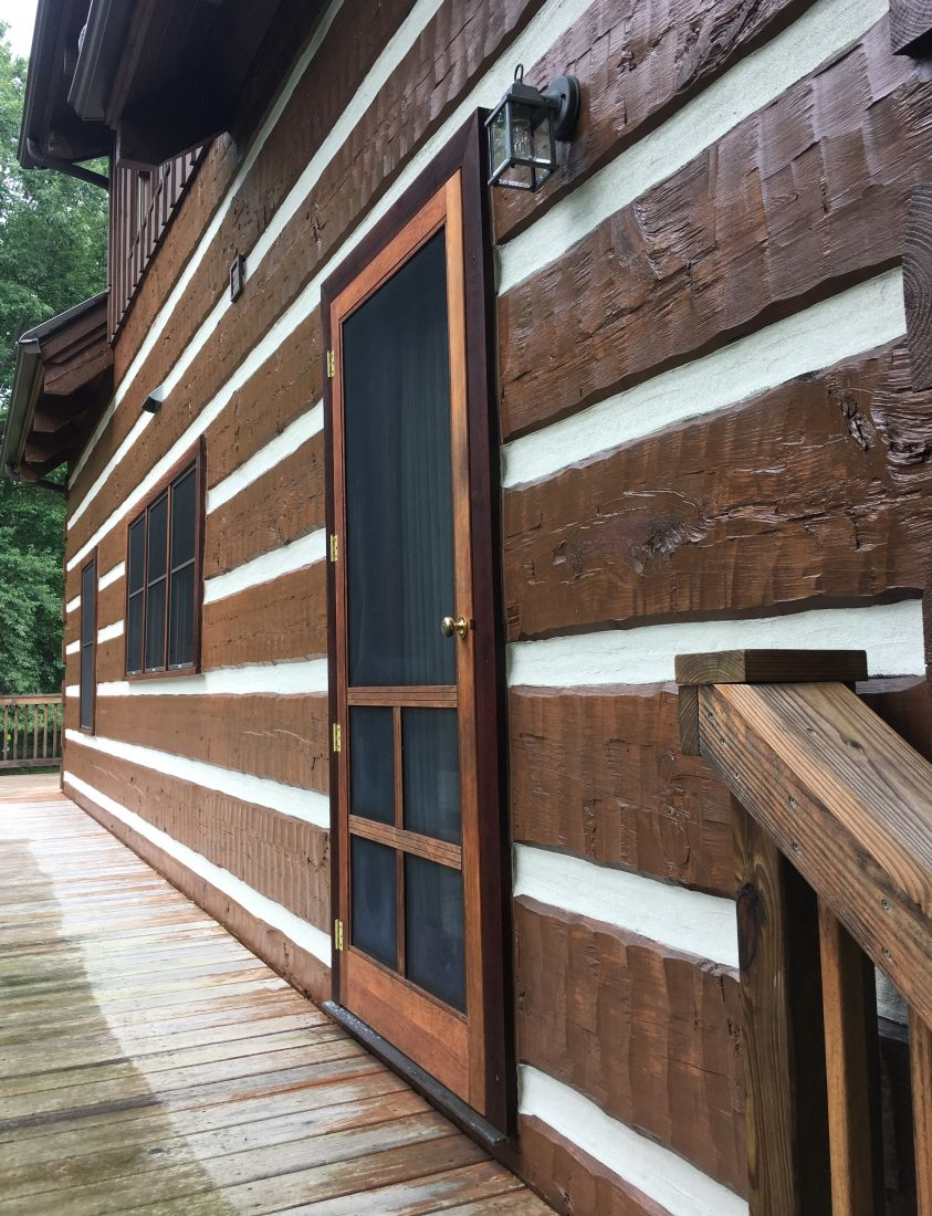 Ohio Log Home Restoration by Scenic Pine Finishing