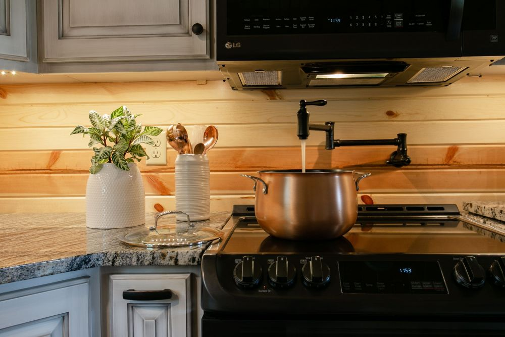 Wall Mounted Pot Filler Above Stove