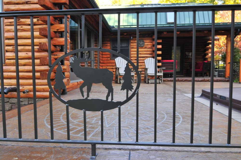 Wrought Iron Railing with Elk Silhouette